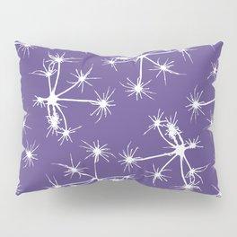 Floral Fireworks - Ultra Violet Botanical Pattern Pillow Sham