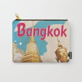 Bangkok Vintage Travel Poster Carry-All Pouch