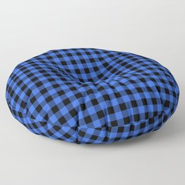 Classic Royal Blue Country Cottage Summer Buffalo Plaid Floor Pillow