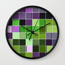 3D PATTERN SQUARE Wall Clock