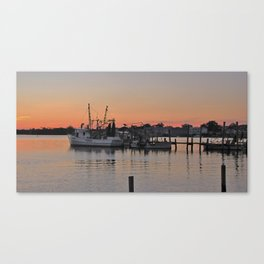 Shrimp Boat at sunset Canvas Print