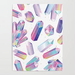 Purple Crystals Poster