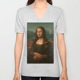 Mona Lisa Classic Leonardo Da Vinci Painting Unisex V-Neck