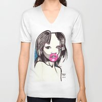 native V-neck T-shirts featuring Native by Joseph Walrave