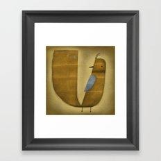 BLUE WING Framed Art Print