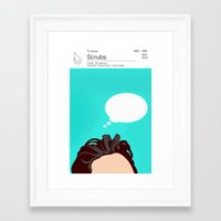 scrubs Framed Art Prints featuring Scrubs Tv books by Fabio Castro