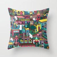 good morning Throw Pillows featuring Good Morning! by Valeriya Volkova