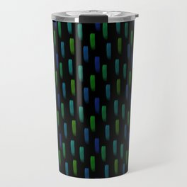 Neon Blue and Green Pattern Travel Mug