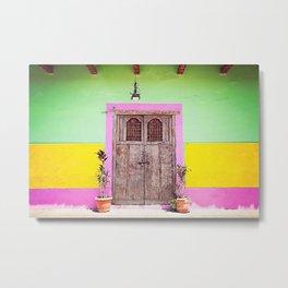 Colourful doorway | Nicaragua Metal Print