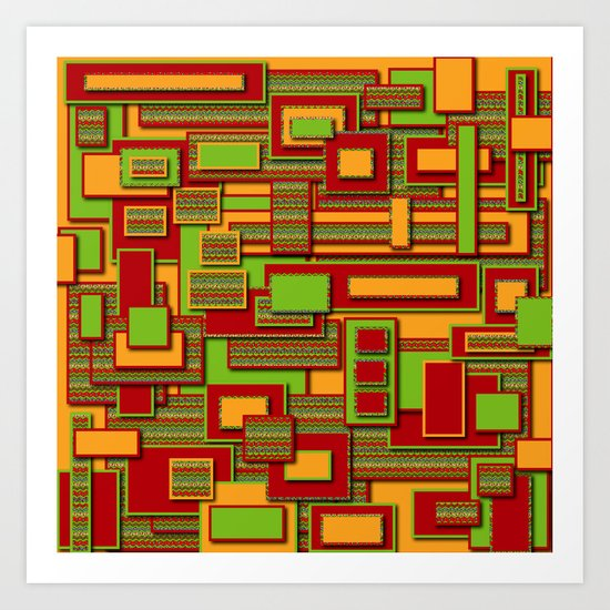 Rectangle Doodle Art Print