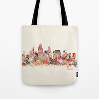 ohio Tote Bags featuring cincinnati ohio  by bri.buckley