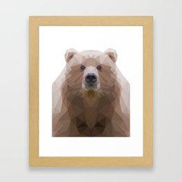 Low poly Bear Portrait Framed Art Print