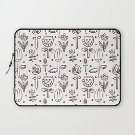 Pattern in Nordic Floral Style #4 Laptop Sleeve