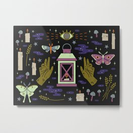 Spooky Horoscopes: Virgo Metal Print