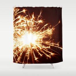Golden Summer Sparkler Shower Curtain