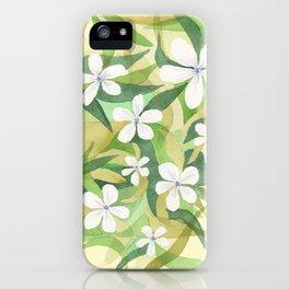 Granny's white flowers iPhone Case