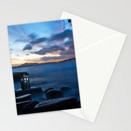 Tardis On The Sea Stone Stationery Cards