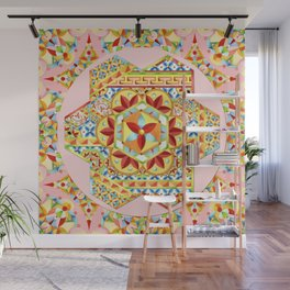 Pink Polka Dot Gypsy Caravan Wall Mural