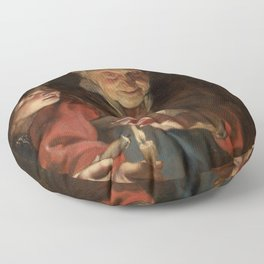 Old Woman and Boy with Candles - Peter Paul Rubens Floor Pillow