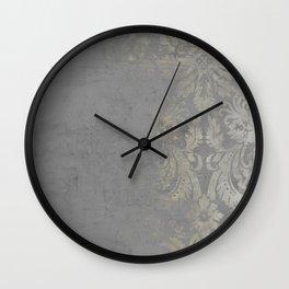 Grunge Damask Wall Clock
