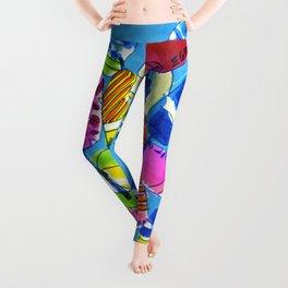 Watercolor Buoys Leggings