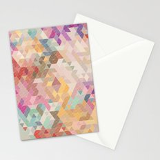 Soft Mini Triangles Stationery Cards