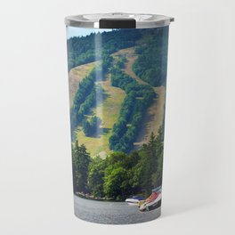 Shawnee Peak from Moose Pond in Maine (3) Travel Mug