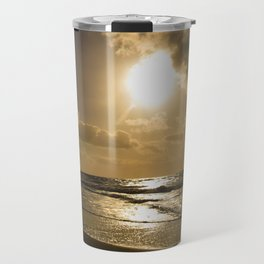 Clouds over the sea of Sylt Island Travel Mug