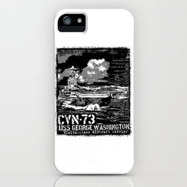 Aircraft carrier George Washington iPhone Case