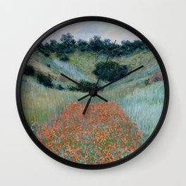 "Claude Monet ""Poppy Field in a Hollow near Giverny"" Wall Clock"