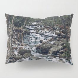 Frozen Stream From Mountain High Pillow Sham