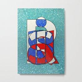 Russia – Glitter Metal Print