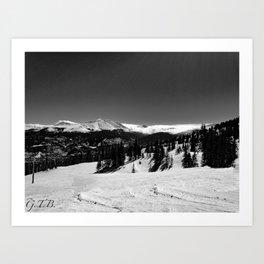 Colorado in Black and White Art Print