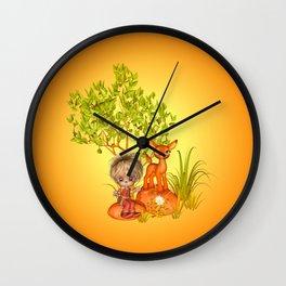 Orange rocks baby Wall Clock