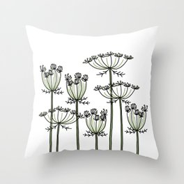 wild carrots Throw Pillow