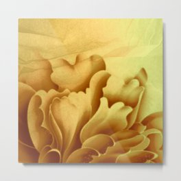 peach veiled flower Metal Print