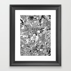Two Ducks in a Pond Framed Art Print