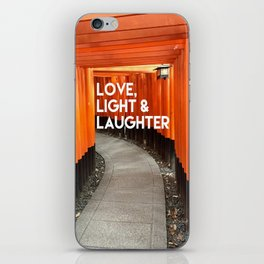 Love, Light & Laughter iPhone Skin