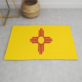 flag new mexico-usa,america,sun,Zia Sun symbol,New Mexican,Albuquerque,Las Cruces,santa fe,roswell Rug