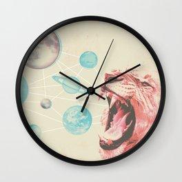 Solar system lion Wall Clock