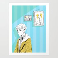 kieren walker Art Prints featuring In The Flesh - Kieren  by Cy-lindric