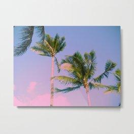 Cotton Candy Tropics Metal Print