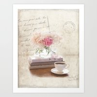 shabby chic Art Prints featuring Shabby by Lisa Smith