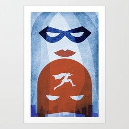 Nightly patrol Superheroes SF Art Print