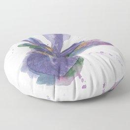 Iris Watercolor Floor Pillow