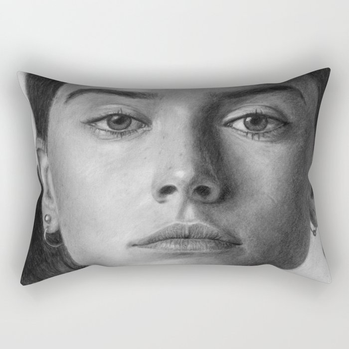 Daisy Ridley Portrait Rectangular Pillow