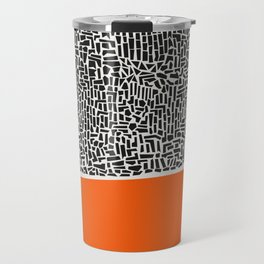 City Sunset Abstract Travel Mug