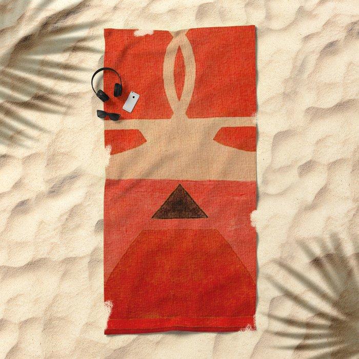 Lucha Libre Mask 1 Beach Towel