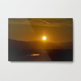 Sunset Lane Metal Print