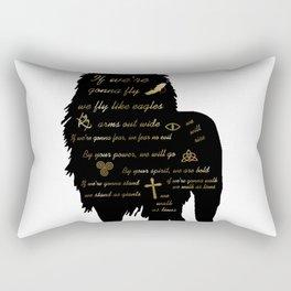 We Walk as Lions Rectangular Pillow